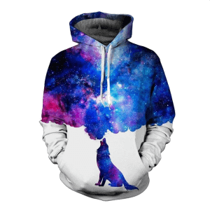 SPACE GALAXY DOG PSYCHEDELIC HOODIE